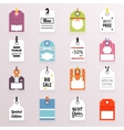 Sale Price Labels Icons Set Text Tag Symb vector image vector image