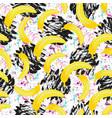 seamless hipster pattern bananas texture print vector image vector image