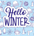 seasonal weather winter vector image