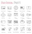 seo icons set part 1 line design modern vector image