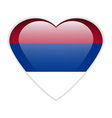 Serbia flag button vector image vector image