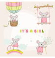 Set of Baby Mouse for Baby Shower or Arrival Card vector image vector image