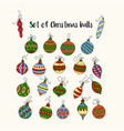 set of color christmas icons vector image vector image