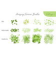 set summer foliage ecology brushes vector image