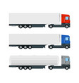 set three truck trailers vector image vector image