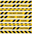 set yellow police tape enclosing for forensics vector image vector image