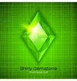 Shiny emerald on textured background vector image