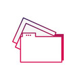 silhouette file folder with documents papers vector image vector image