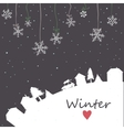 Snowfall on night mesh sky background vector image vector image