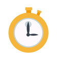stopwatch school subject sign simple icon on vector image