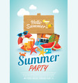 summer beach party invitation poster background vector image