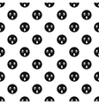 Surprised smiley pattern simple style vector image vector image