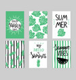 templates in green and black colors with vector image