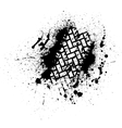 Tire track with ink blots vector image vector image