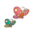 Two butterflies vector image vector image