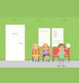 waiting room for children in hospital sick kids vector image vector image