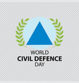 world civil defence day vector image vector image