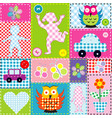 patchwork for kids with childish elements vector image