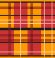 red and orange tartan vector image