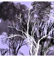 abstract silhouette trees vector image