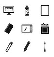 art instruments icons set simple style vector image vector image