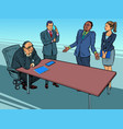 business meeting in office businessmen and vector image vector image