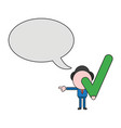businessman character with blank speech bubble vector image vector image