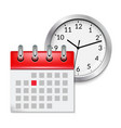 calendar icon with month time symbol flat agenda vector image