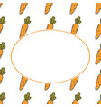 carrot hand drawn banner hand drawn ornate for vector image vector image