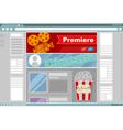 Cinema site interface design vector image vector image