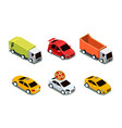 city transport set urban public and freight vector image