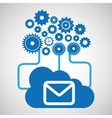 cloud network email message connection design vector image vector image