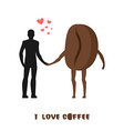 coffee lovers Infatuated with fragrant drink Man vector image