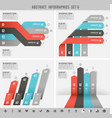 cold colors ribbons infographics template vector image