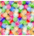 Colors hearts seamless pattern vector image
