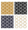 Decorative calligraphic seamless patterns set vector image vector image