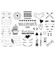 Doodle set of design elements about love vector image vector image