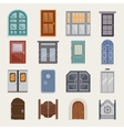 Door Icons Flat vector image