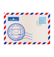 envelope with istanbul stamp international mail vector image vector image