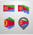 eritrea flag design set vector image vector image