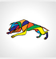 fighting dog pit bull terrier dog or canine vector image