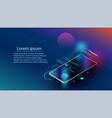 fingerprint wi-fi smartphones appliances via vector image vector image