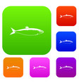 fish set collection vector image vector image