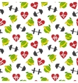 Fitness symbols seamless pattern vector image vector image