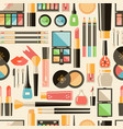 flat cosmetics seamless pattern beauty fashion vector image