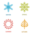 Four season vector image vector image