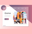 game website landing page design template vector image vector image