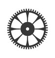 gear machinery piece vector image vector image