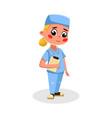 girl doctor character in uniform kids hobor vector image vector image
