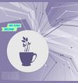 green tea icon on purple abstract modern vector image vector image